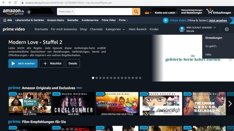 Amazon Prime Video: Verlauf löschen