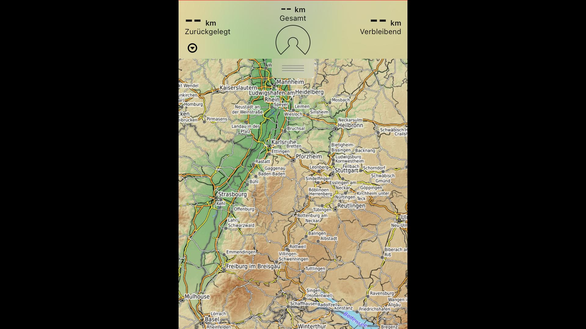 Oberfläche der Rother App