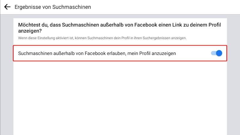 Facebook-Profil über die App verbergen