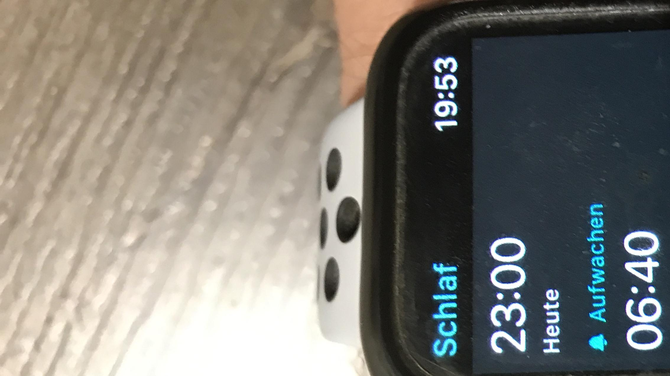 Mit der Schlaf App können Sie auf der Apple Watch eine Schlafanalyse durchführen.