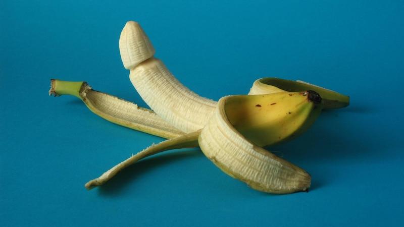 Ähnlich wie bei dieser Banane ist bei diesem Penistyp die Mitte des Schaftes dicker als der Rest.