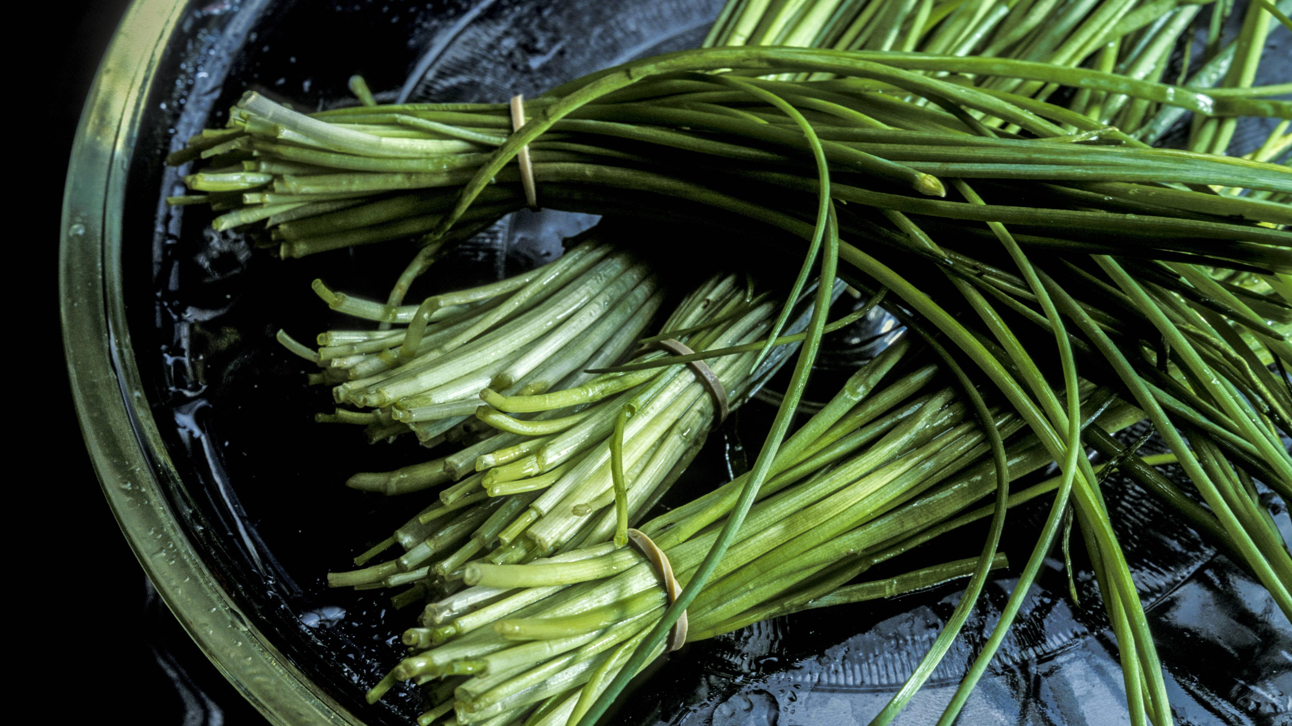 Schnittlauch ist gesund - er enthält neben Vitamin A, C und K auch Eisen, Folsäure, Kalium und Calcium.