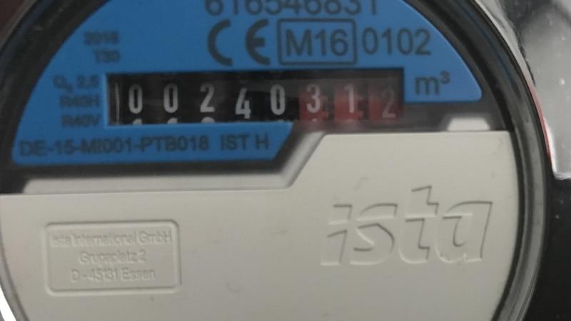 Wasserzähler berechnen das verbrauchte Wasser im Kubikmeter.