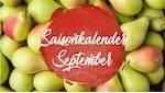 Im September stehen unter anderem Birnen auf dem Speiseplan.