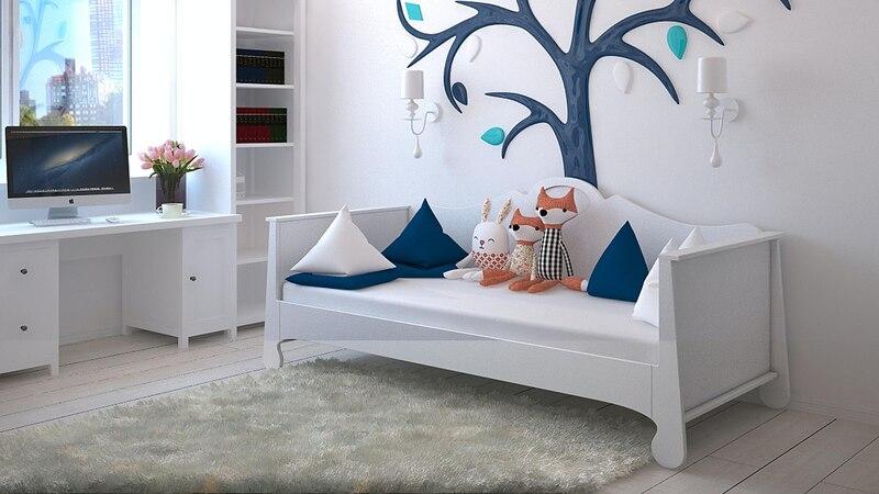 Beim Gestalten des Kinderzimmers sollte auf harmonische Farben geachtet werden, in denen sich die Kinder noch lange wohlfühlen.