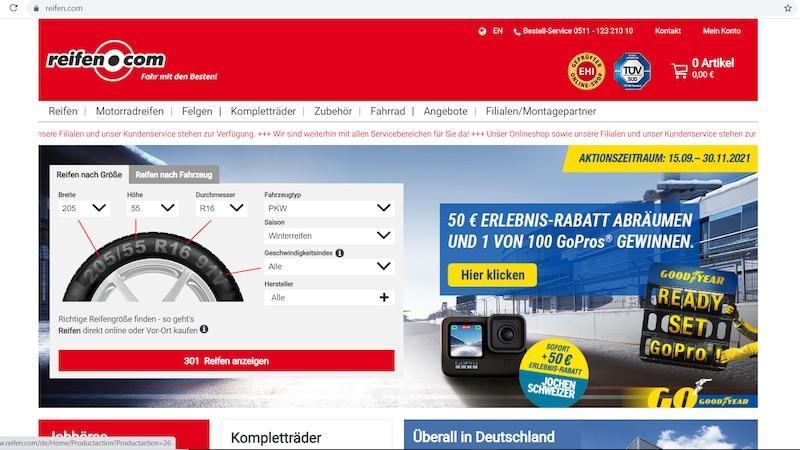 Online Winterreifen kaufen bei Reifen.com