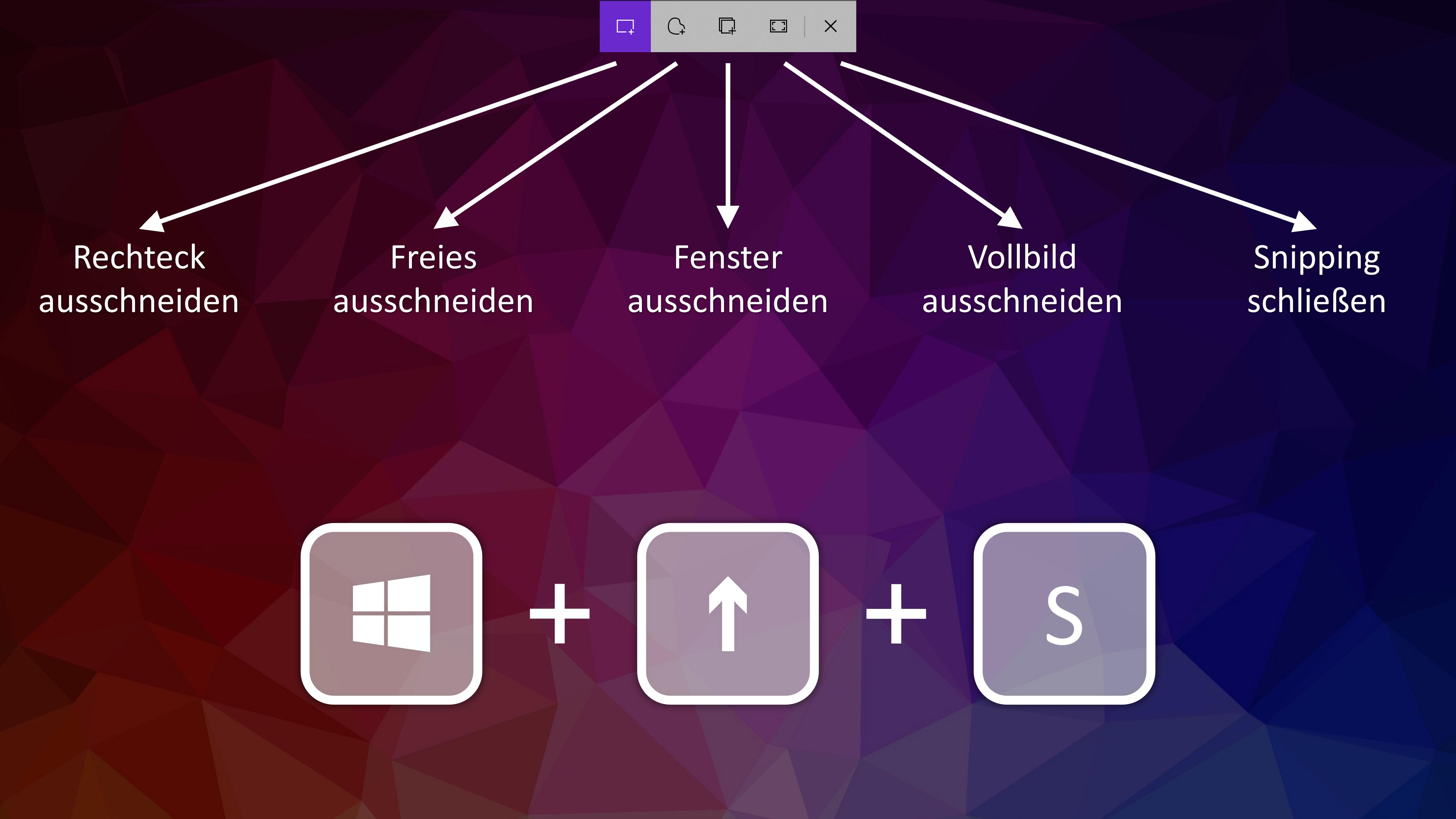 Mit Snip and Sketch können Sie bei Windows einen Screenshot aufnehmen