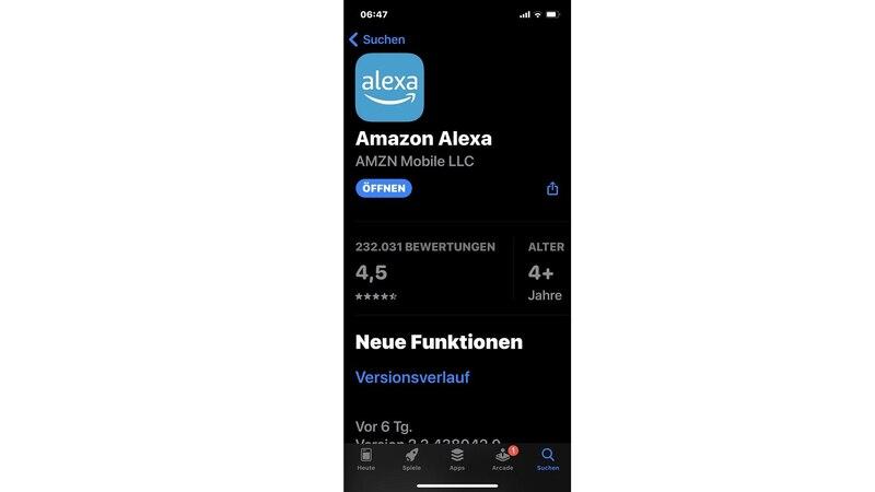 Amazon Alexa-App startet nicht unter iOS