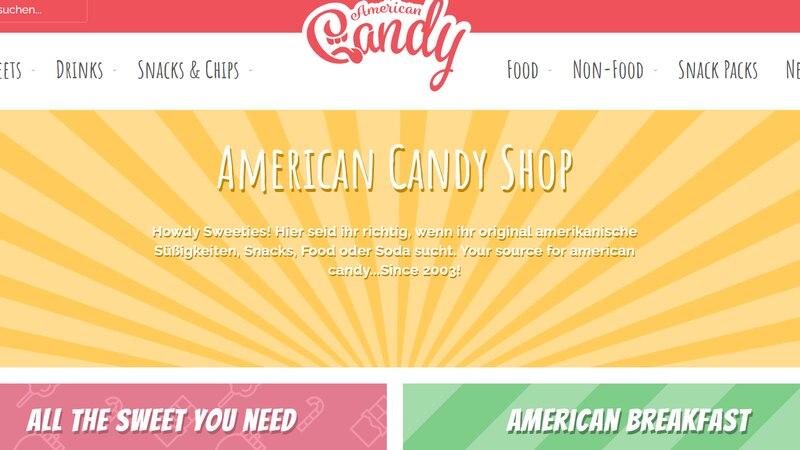 American Candy Shop bietet viele amerikanische Snacks an