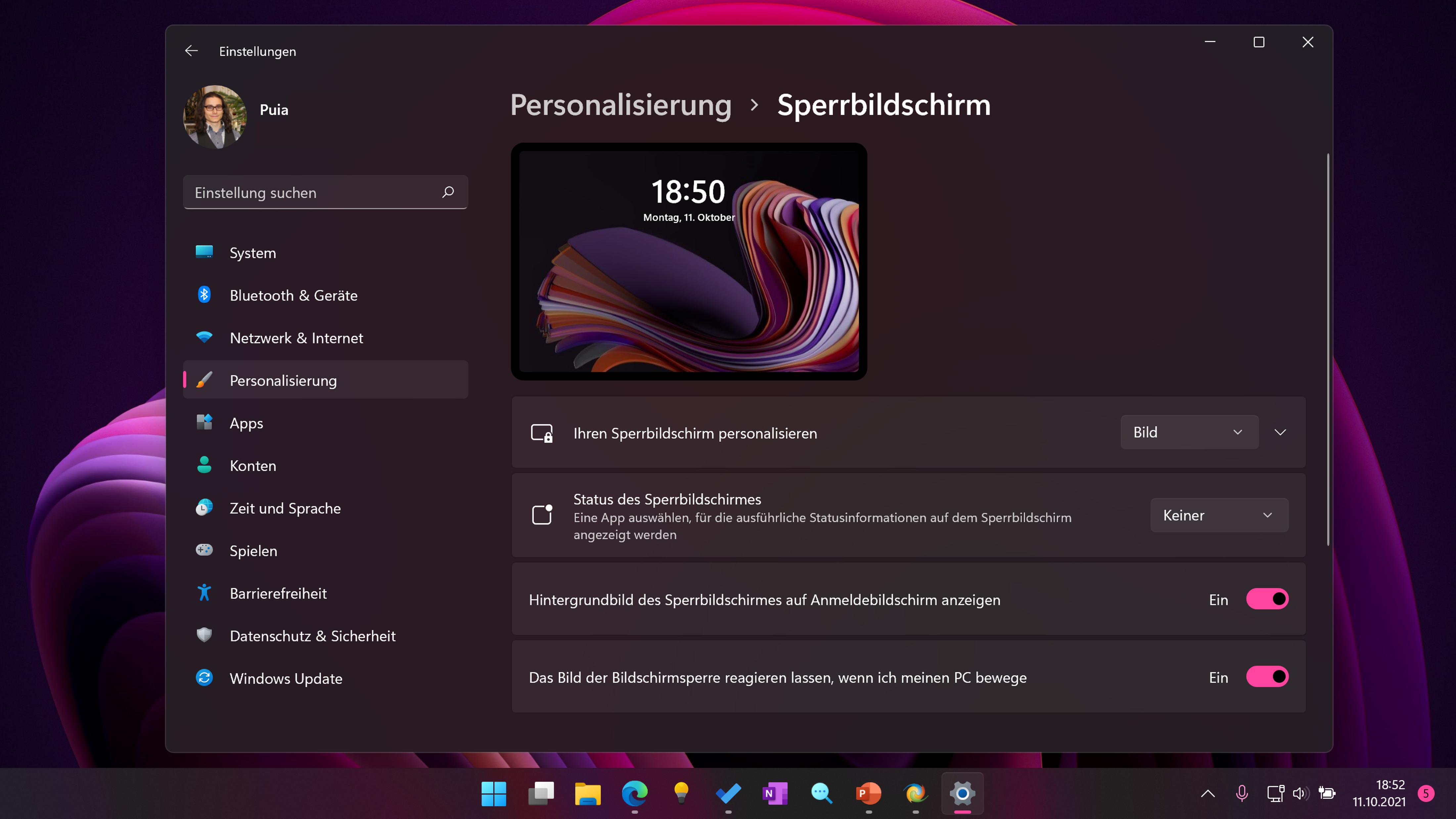 Mit diesen Einstellungen können Sie den Windows 11 Sperrbildschirm anpassen