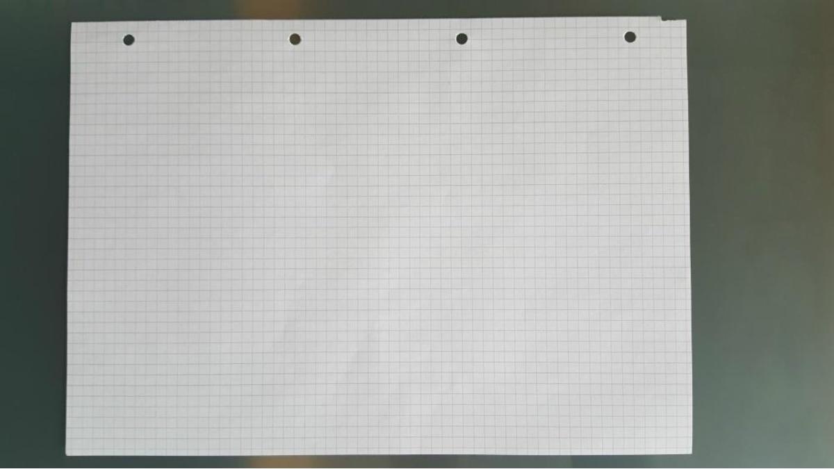 Starten Sie mit einem Blatt, welches groß genug ist. Zu Demonstrationszwecken wählen wir hier ein einfaches DIN-A4-Format.