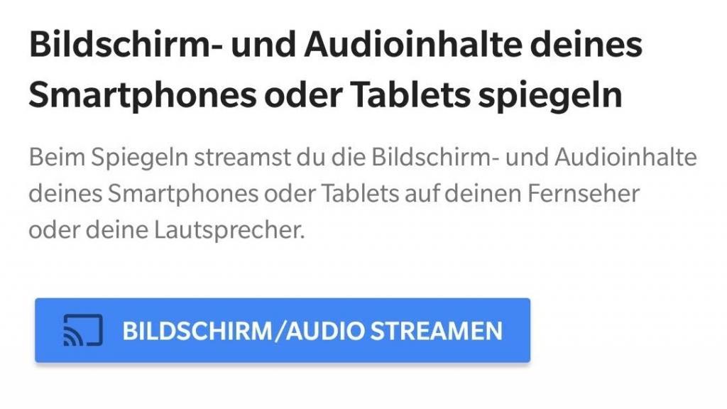 Amazon Video am Chromecast: Bildschirm spiegeln