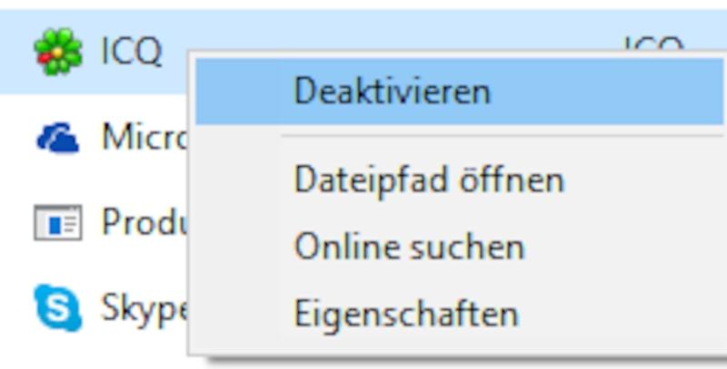 Autostart-Programme deaktivieren