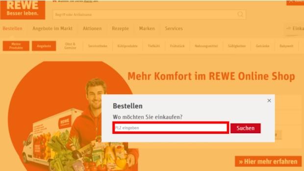 Geben Sie auf https://shop.rewe.de/ Ihre Postleitzahl an. Befindet sich diese im Liefergebiet eines REWE Lieferservice, können Sie Ihren Einkauf online bestellen.