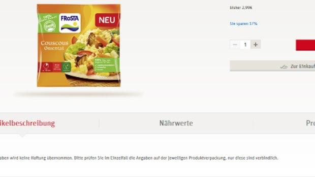 REWE Online bietet zu vielen Produkten eine Artikelbeschreibung, in der sich zum Beispiel Zutaten- und Nährwert-Angaben sowie Zubereitungstipps oder Rezepte befinden. So ist bewusstes Einkaufen insbesondere für Vegetarier, Veganer und Lebensmittelallergiker möglich.