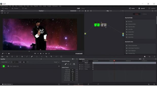 Schritt 10: Nun haben Sie den Greenscreen erfolgreich entfernt und können das Video weiter bearbeiten.