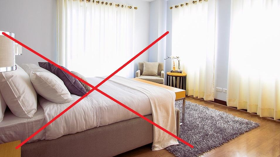 Ein gemachtes Bett zieht Milben an