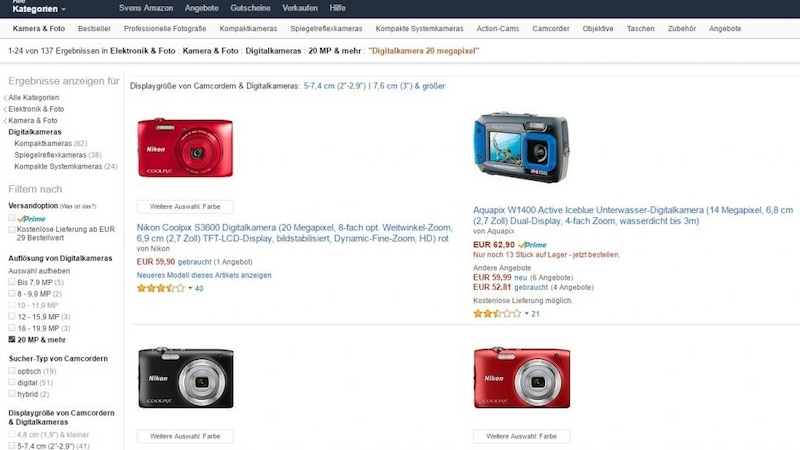 Günstigster Preis: Amazon-Suche