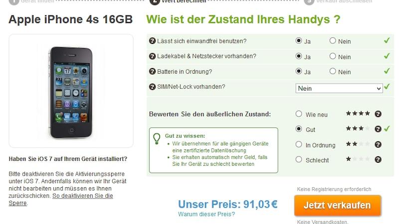 iPhone bei Wirkaufens verkaufen