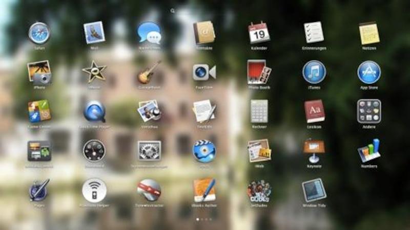 Mac-Apps auf dem Launchpad