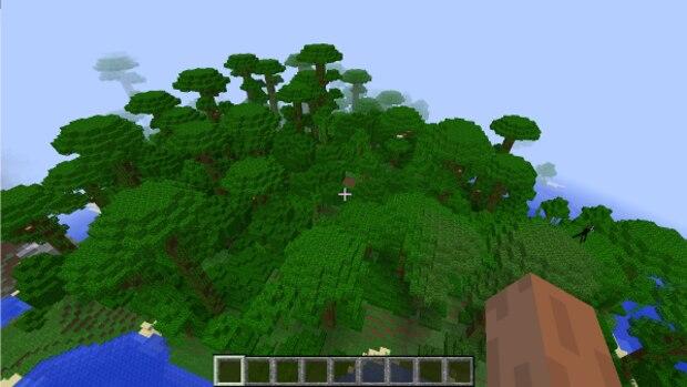 -1134619578760320255: Jungle Camp für Minecraft - mit ein wenig Glück finden Sie in diesem Riesen-Wald mehrere Tempel.