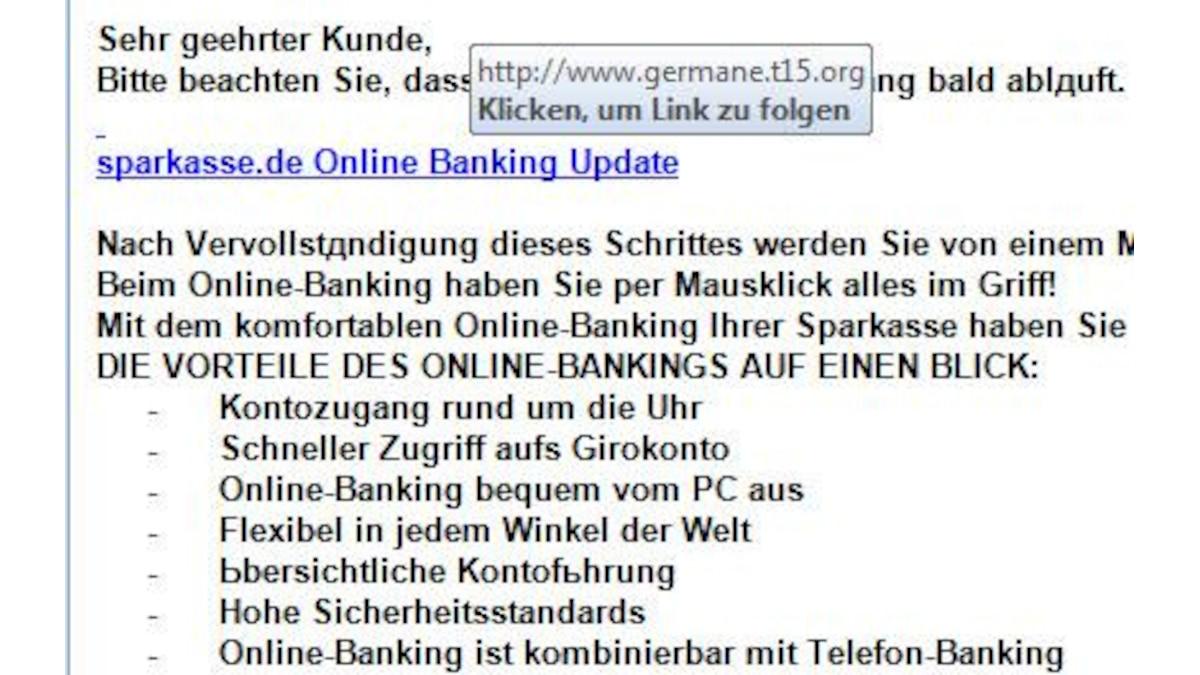 Auch die verlinkte Website gehört definitiv nicht zur Sparkasse.