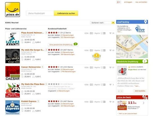 Pizza.de: Online-Lieferservice