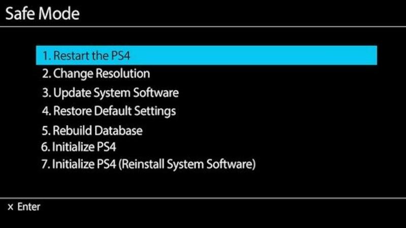 PS4 im Safemode starten