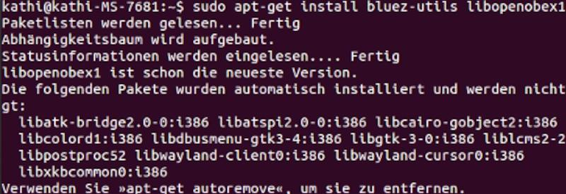 Ubuntu: Pakete für Bluetooth
