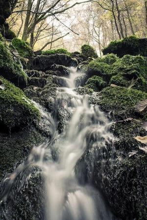 Wasser bei langer Belichtungszeit