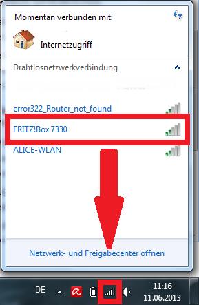 Windows: Eigene SSID finden