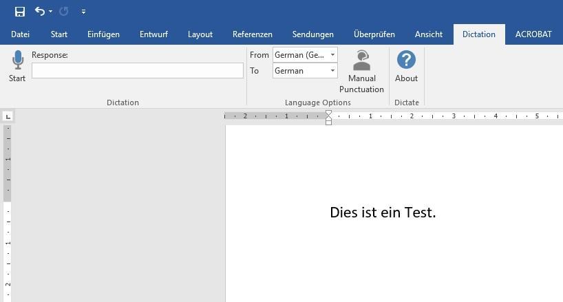 Word: Mit der Spracherkennungssoftware Sprache zu Text umwandeln lassen