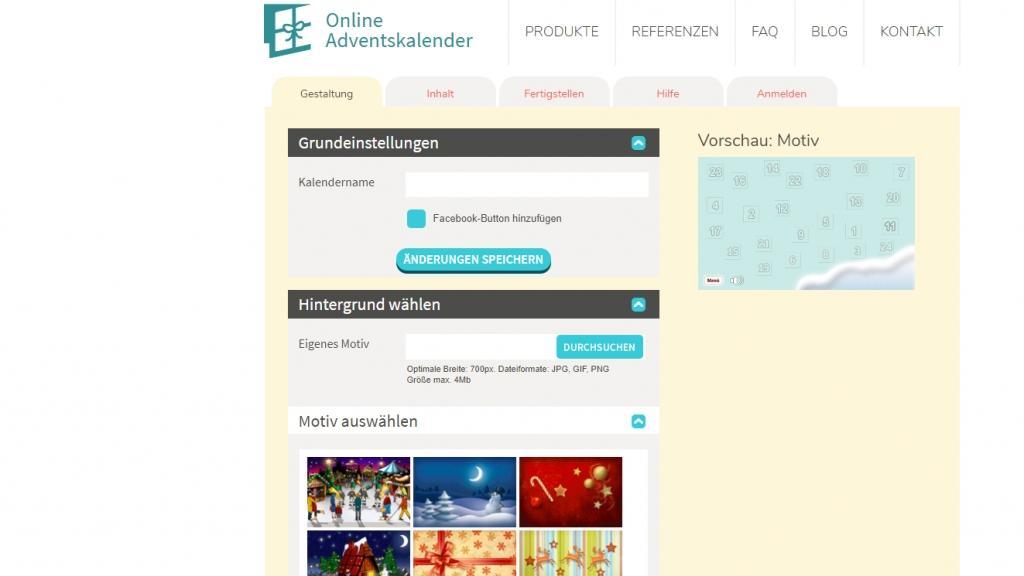 Einen Adventskalender können Sie online selber erstellen